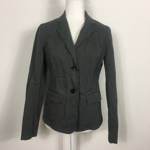 Gap Grey Pinstripe Two Button Close Blazer